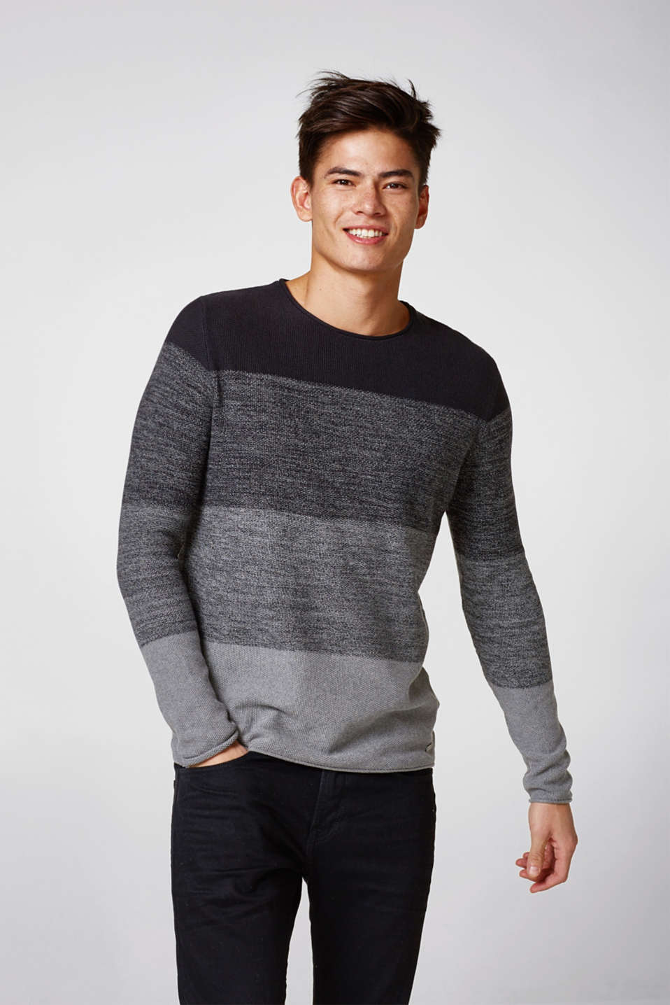 edc - Colour block jumper, 100% cotton