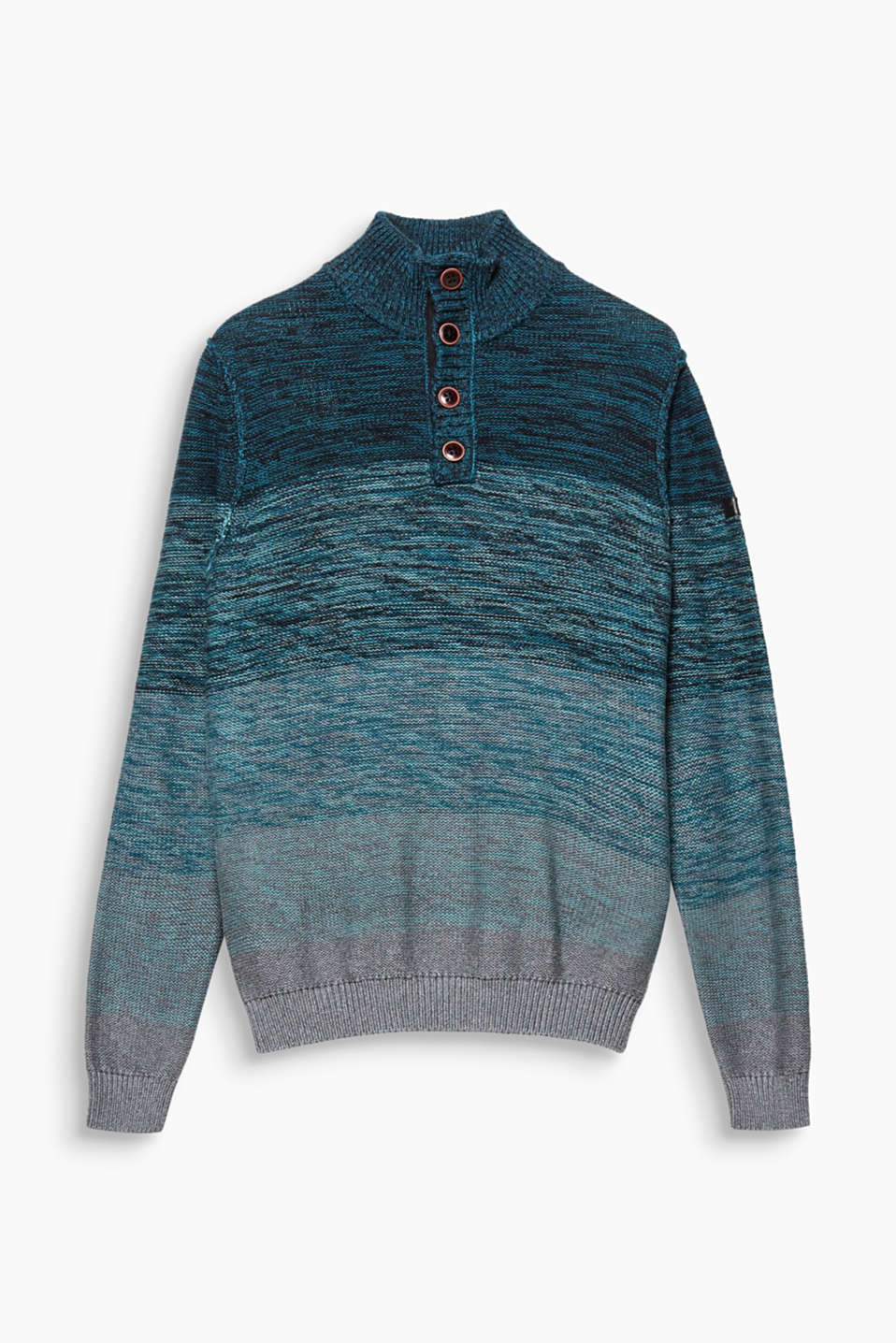 Colourful eye-catching piece! Thanks to its melange style, this 100% cotton jumper is extremely eye-catching