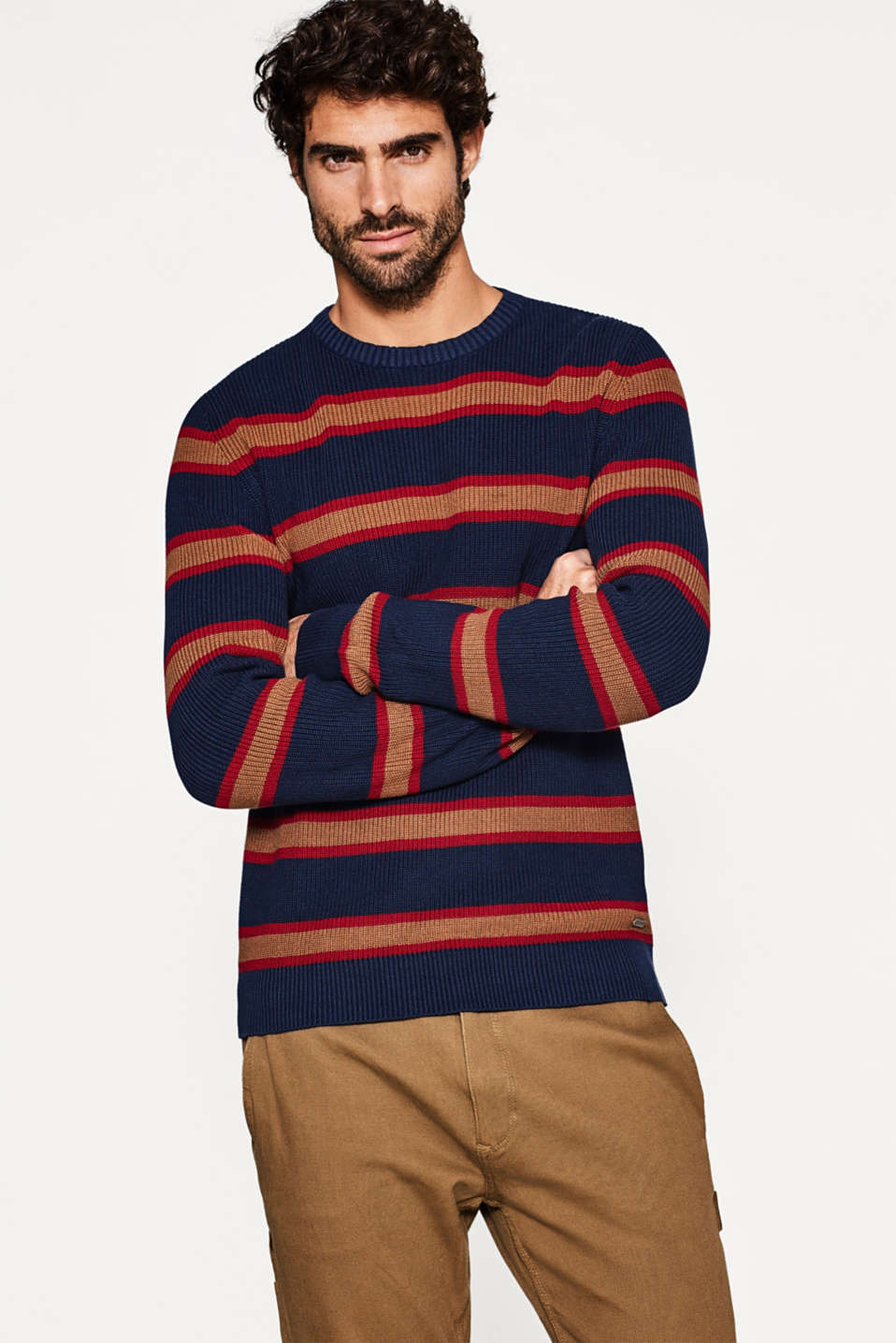 edc - Ribbed knit cotton jumper