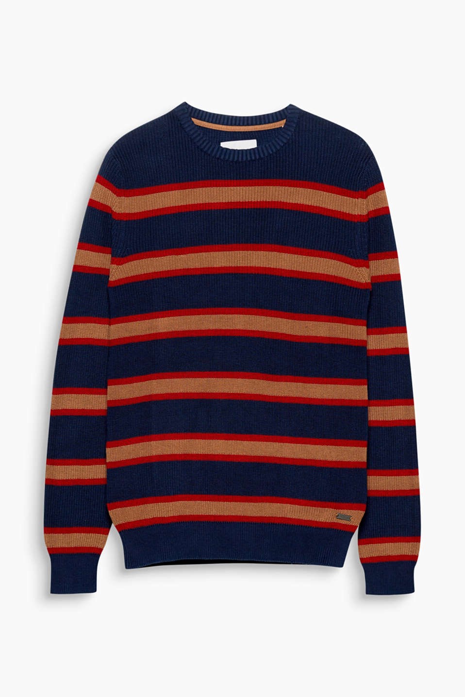 We love knitwear! And the retro stripes stylishly round off the urban design of this jumper.