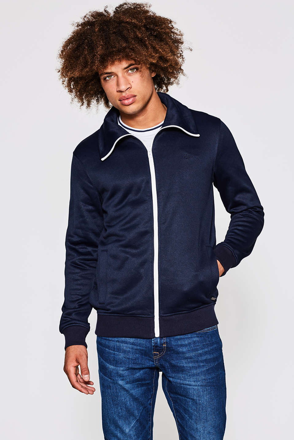 edc - Sporty cardigan med retro-appeal