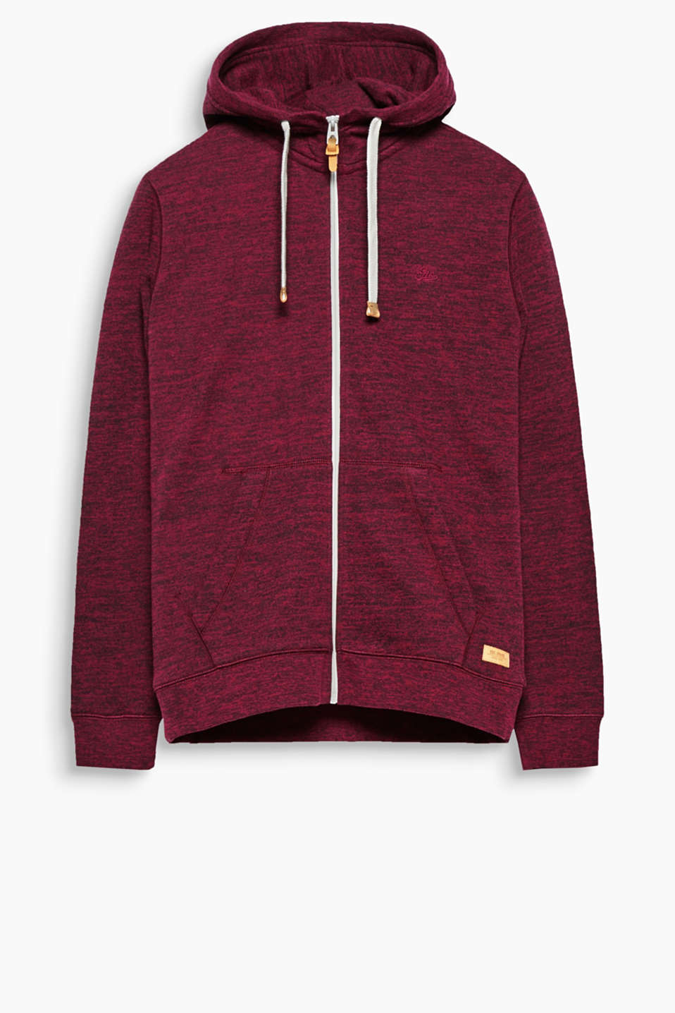 An urban classic! This melange sweatshirt hoodie impresses with its sporty details.