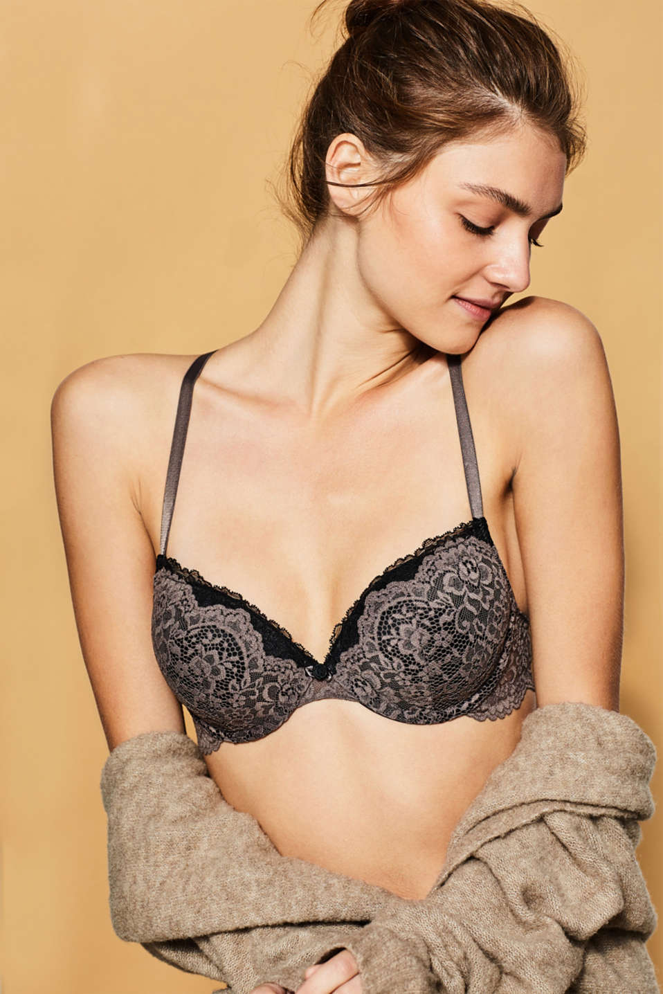 edc - Underwire bra in bi-colour lace