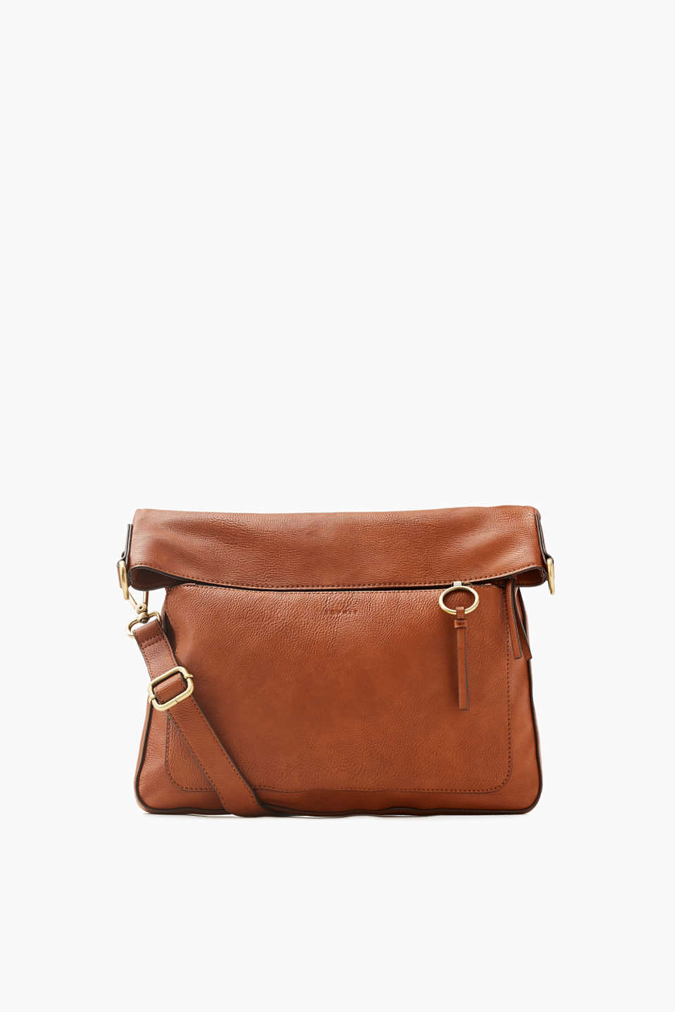 A daily essential! This fine, grainy, faux leather shoulder bag fulfils your everyday demands