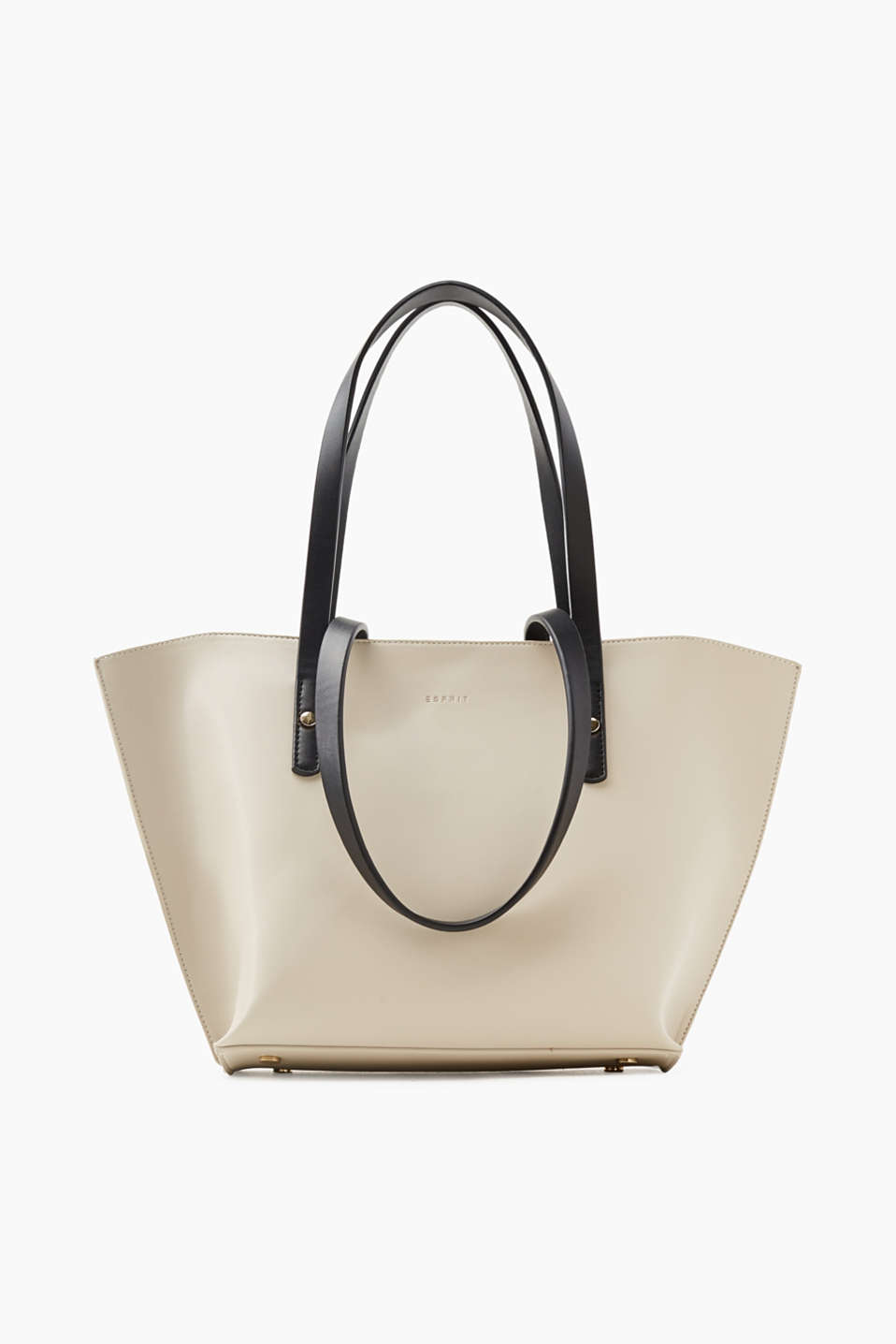 Esprit - Trapezium-shaped faux leather shopper
