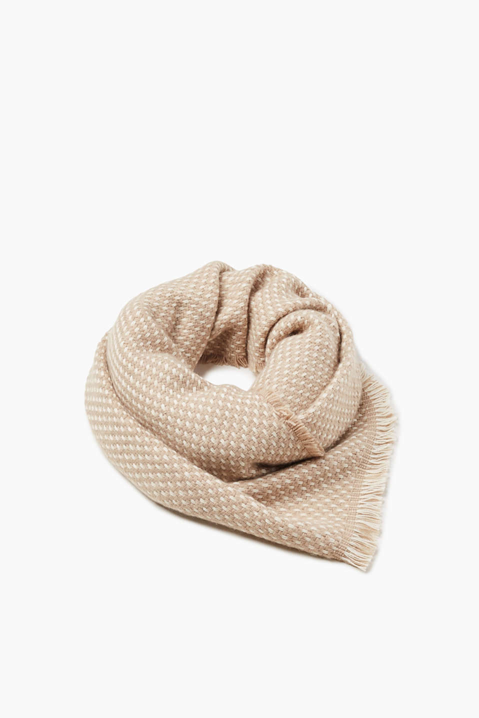 Esprit - Scarf with a fine textured pattern