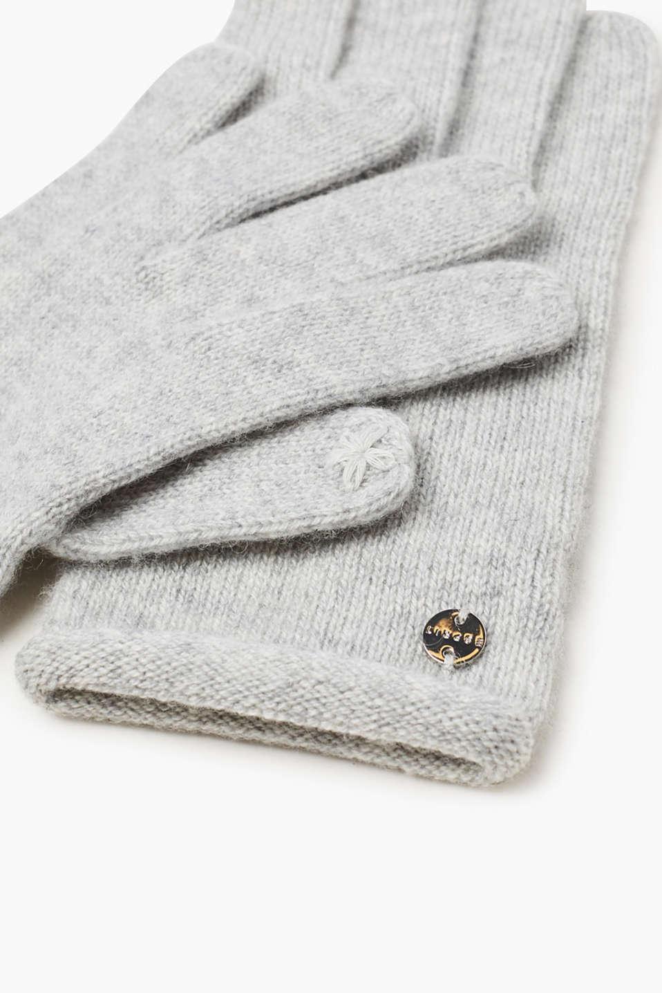 esprit touchscreen handschuhe mit kaschmir im online shop kaufen. Black Bedroom Furniture Sets. Home Design Ideas