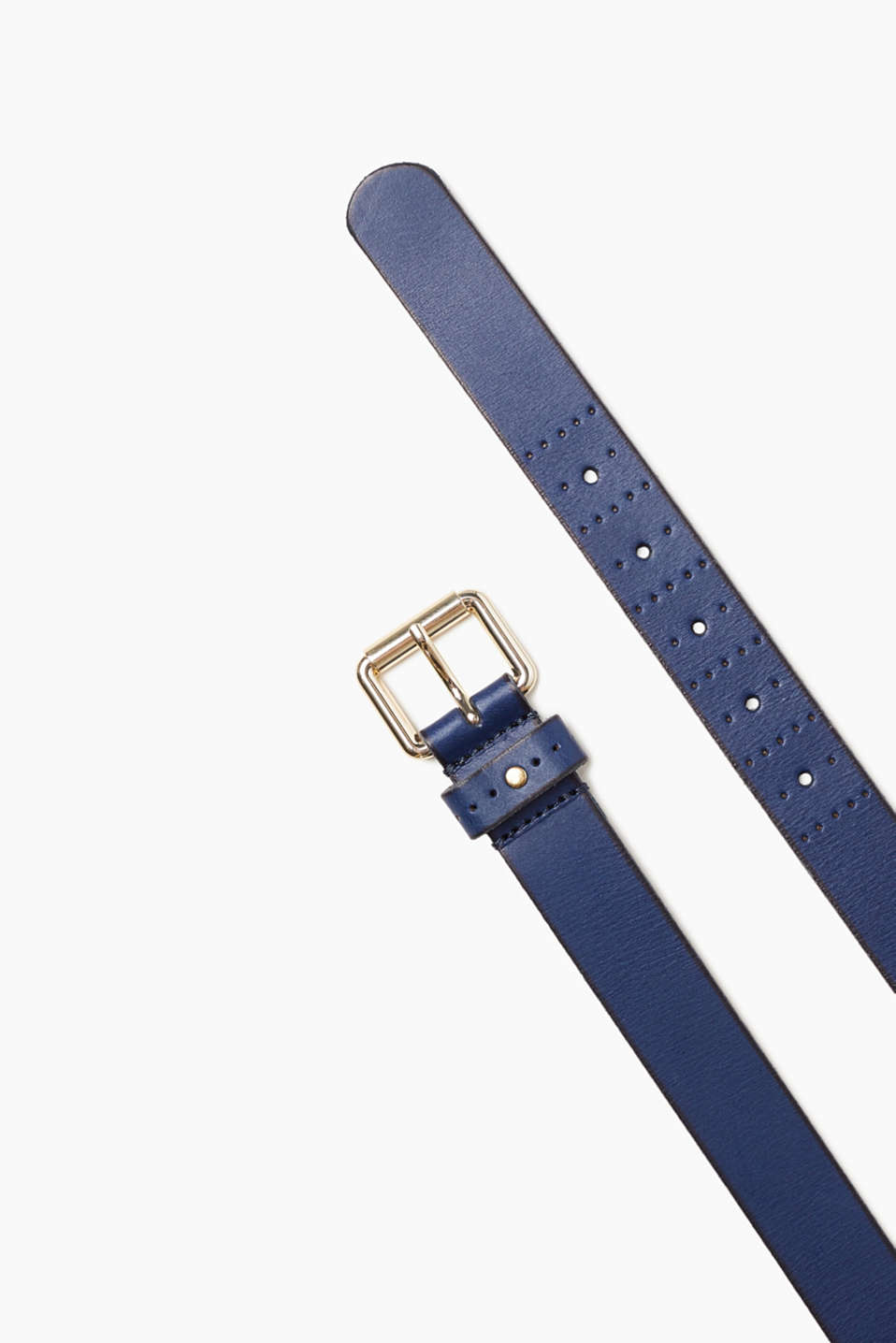 Esprit - Leather belt with a golden buckle
