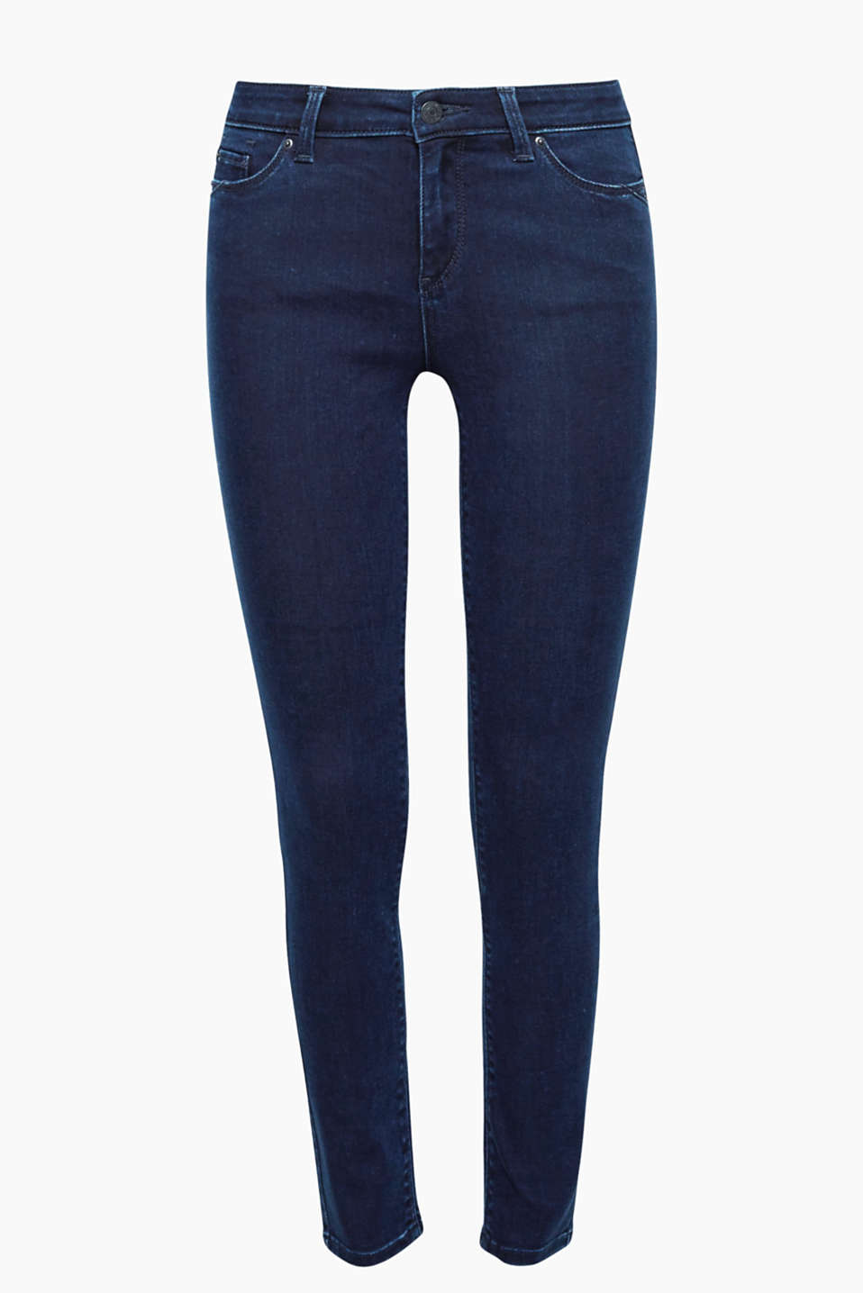 Easy to mix and match yet still trendy: coloured jeans with added stretch for comfort and stitching on the pockets!