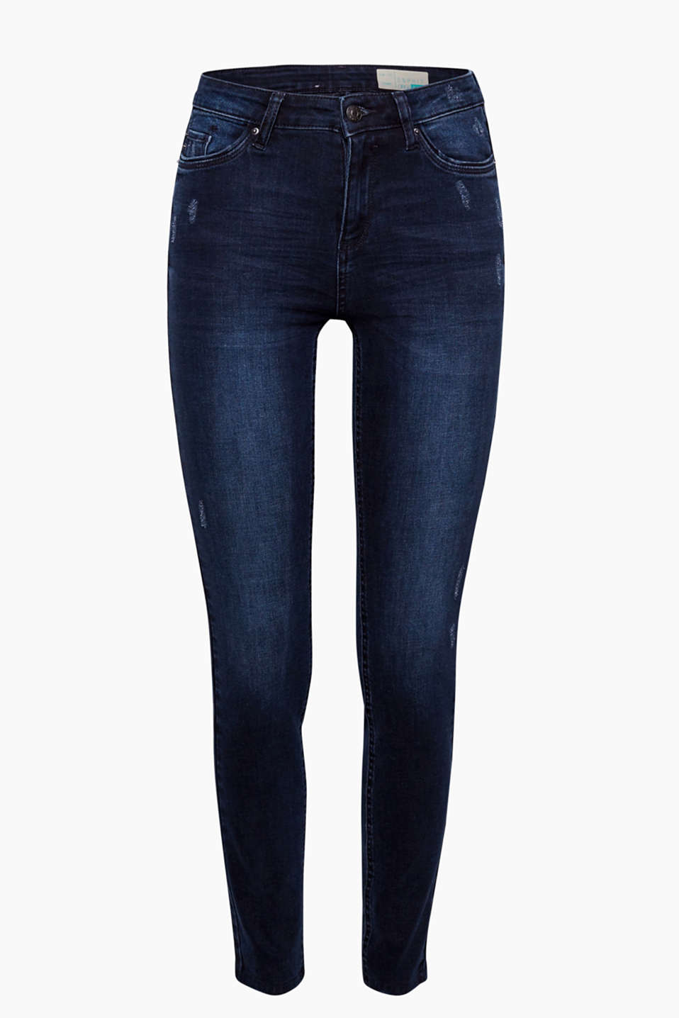 Stylish high-waisted cut and modern organic cotton mix: These high-waisted jeans are so innovative!
