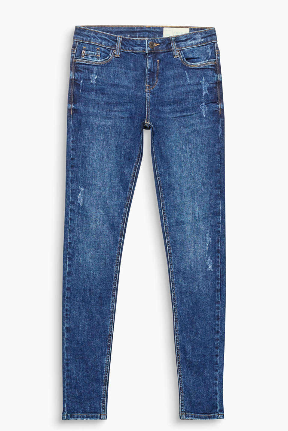 Feel good in these skin-tight stretch jeans made of organic cotton with a casual vintage finish!