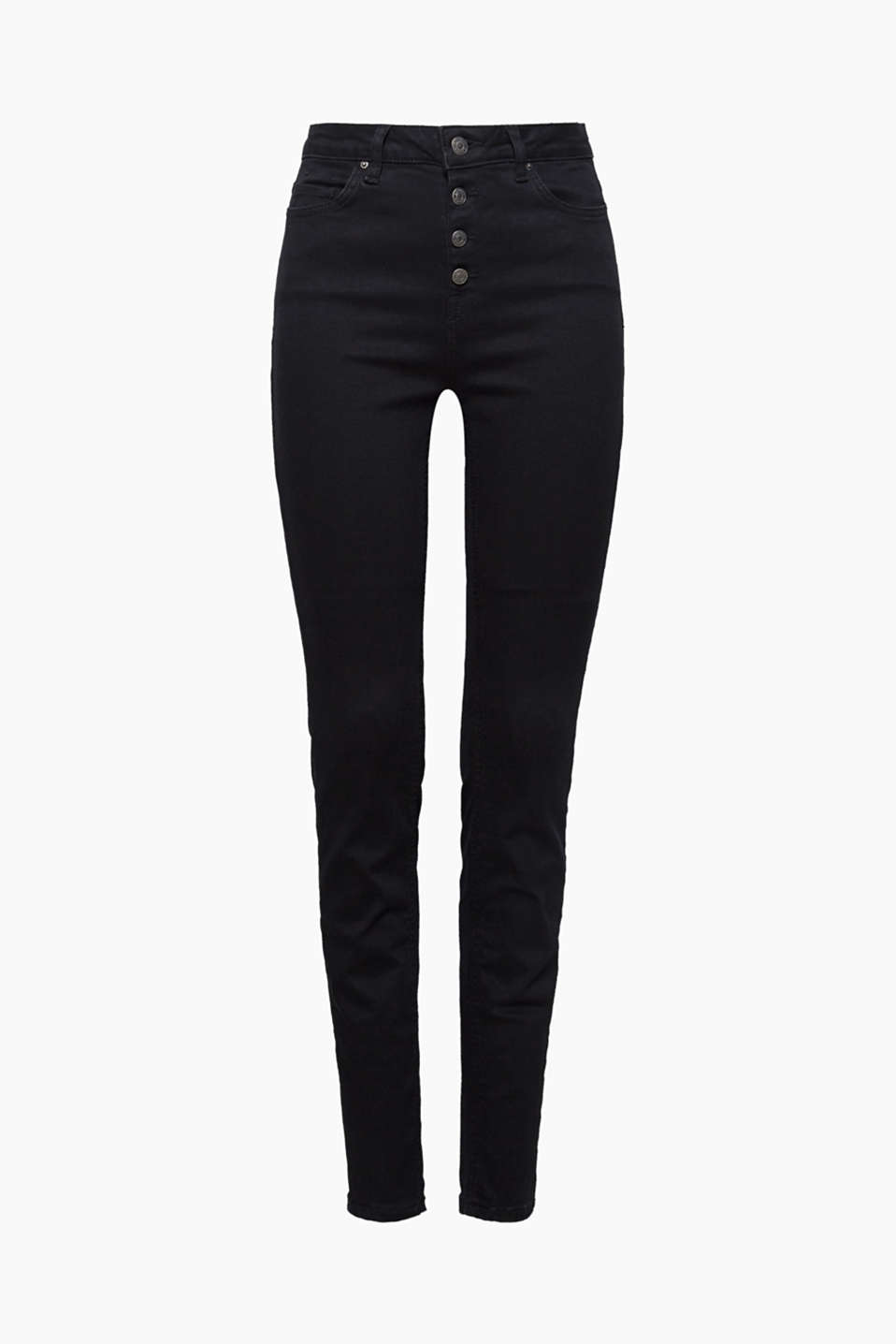 These black jeans with a figure-shaping effect and an extra-high waistband create a dream silhouette!