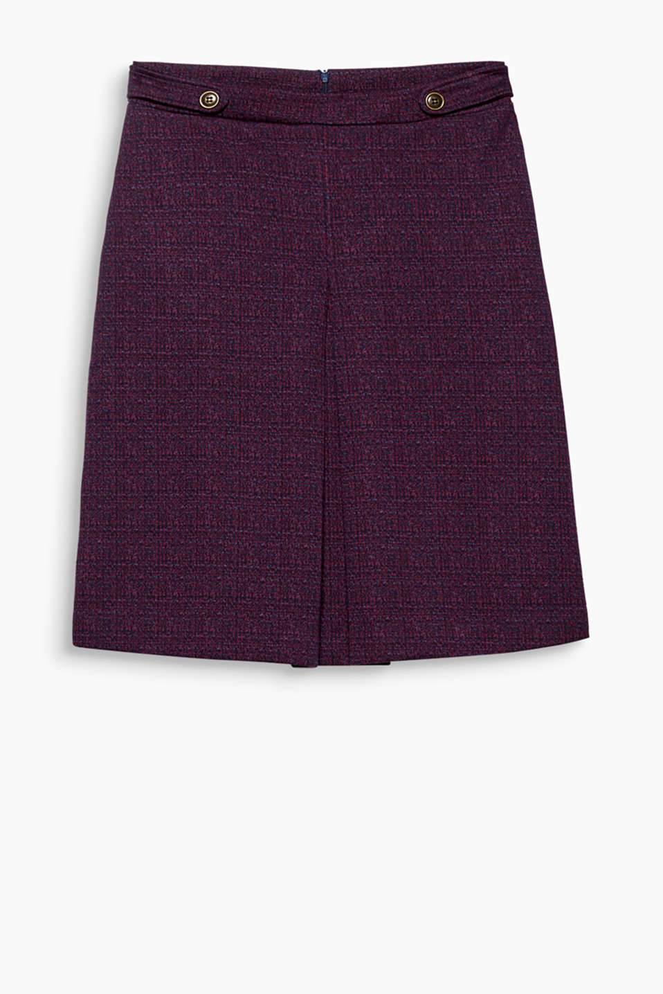 Print, jersey, retro! This midi skirt with an inverted pleat and waist straps is super stylish and mega comfy!