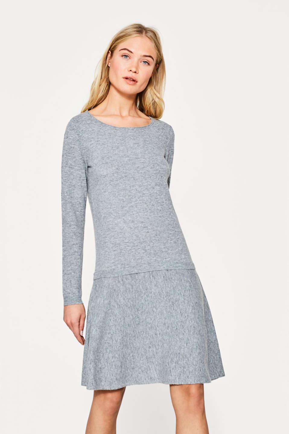 esprit knit wide skirt dress a percentage of wool at our online shop. Black Bedroom Furniture Sets. Home Design Ideas