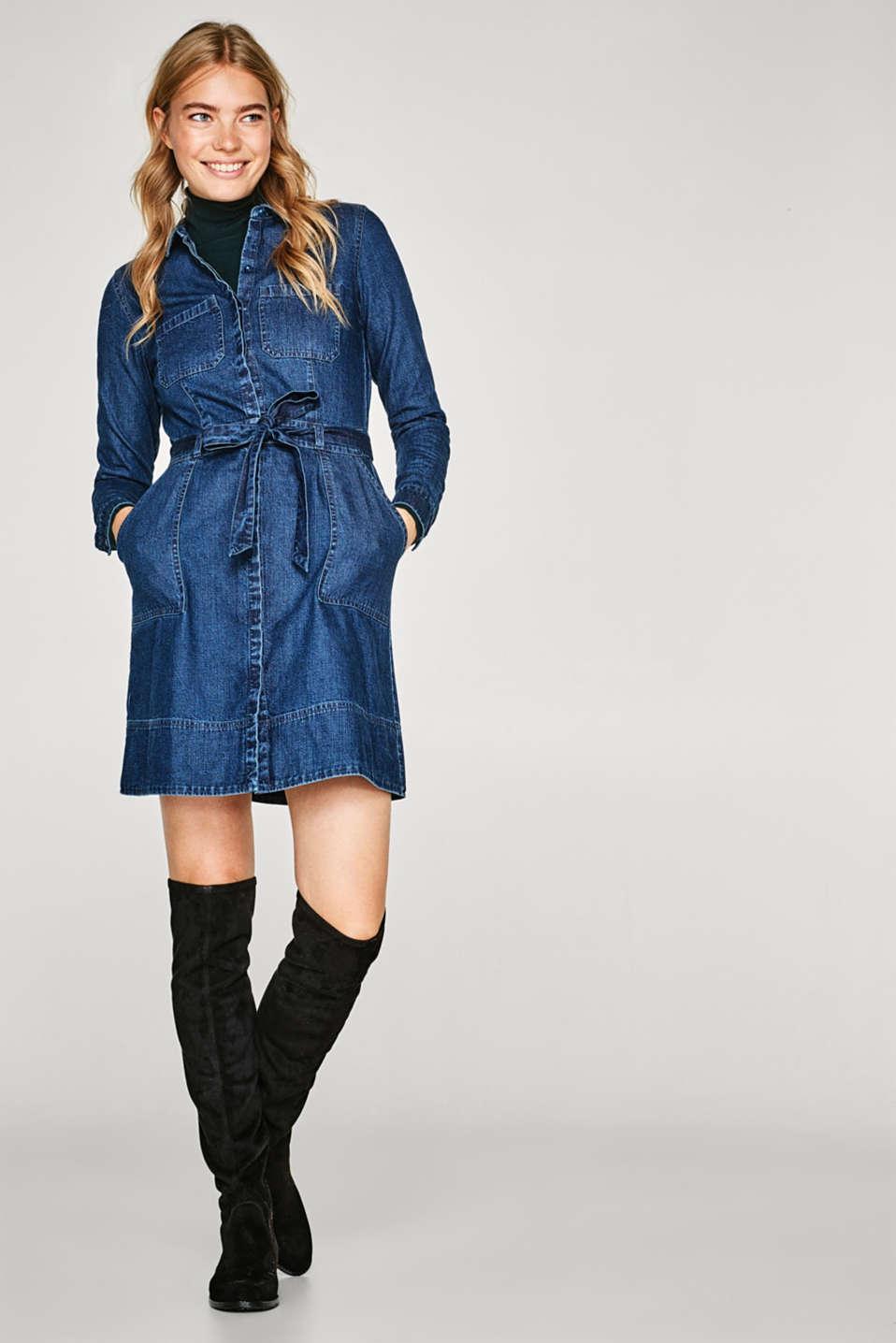 esprit robe chemise en jean 100 coton acheter sur la boutique en ligne. Black Bedroom Furniture Sets. Home Design Ideas