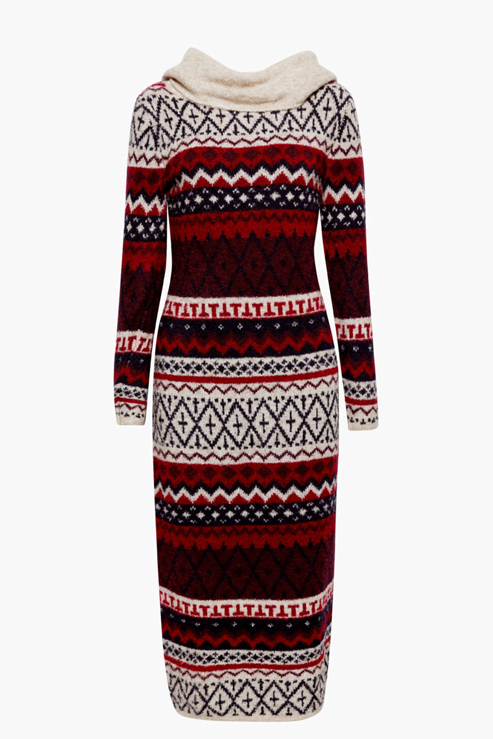 A cosy favourite dress: The soft yarn blend and the bright Norwegian pattern make this dress a highlight piece!