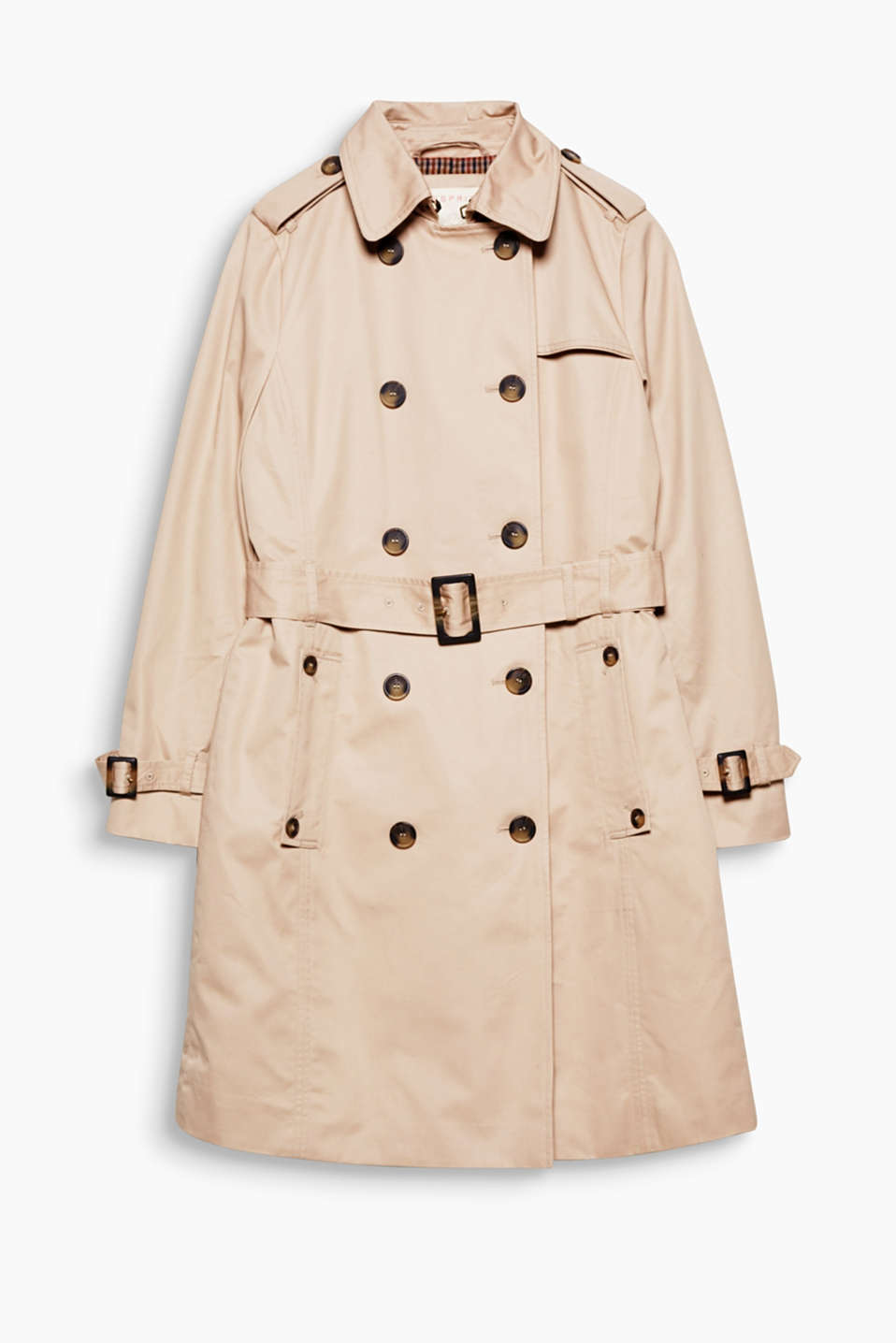 A classic braced against the weather: this double-breasted trench coat is now great for the autumn thanks to the quilted lining!