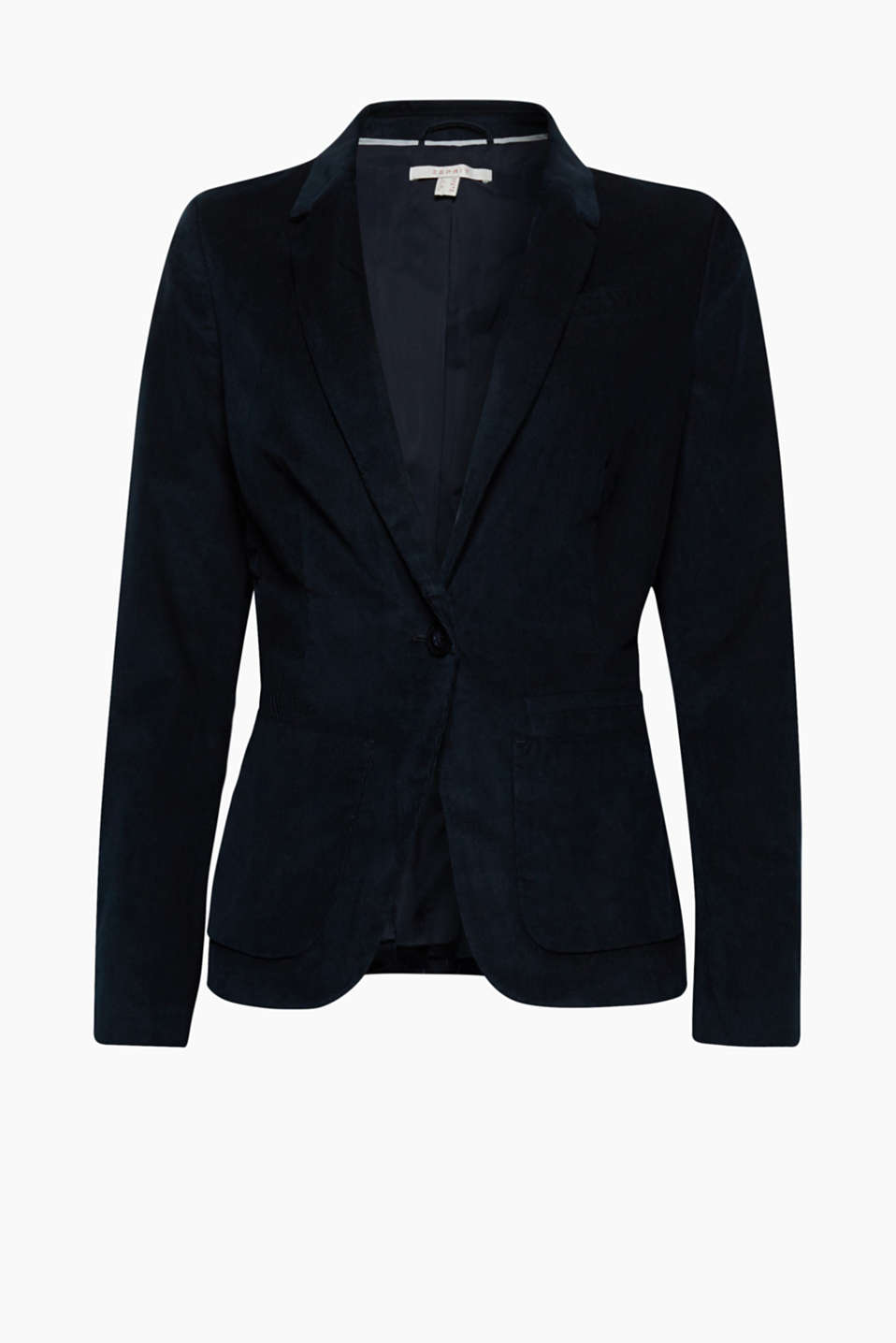 Casual or chic - this needlecord blazer with a feminine fit is wonderfully versatile thanks to its ambiguous look!