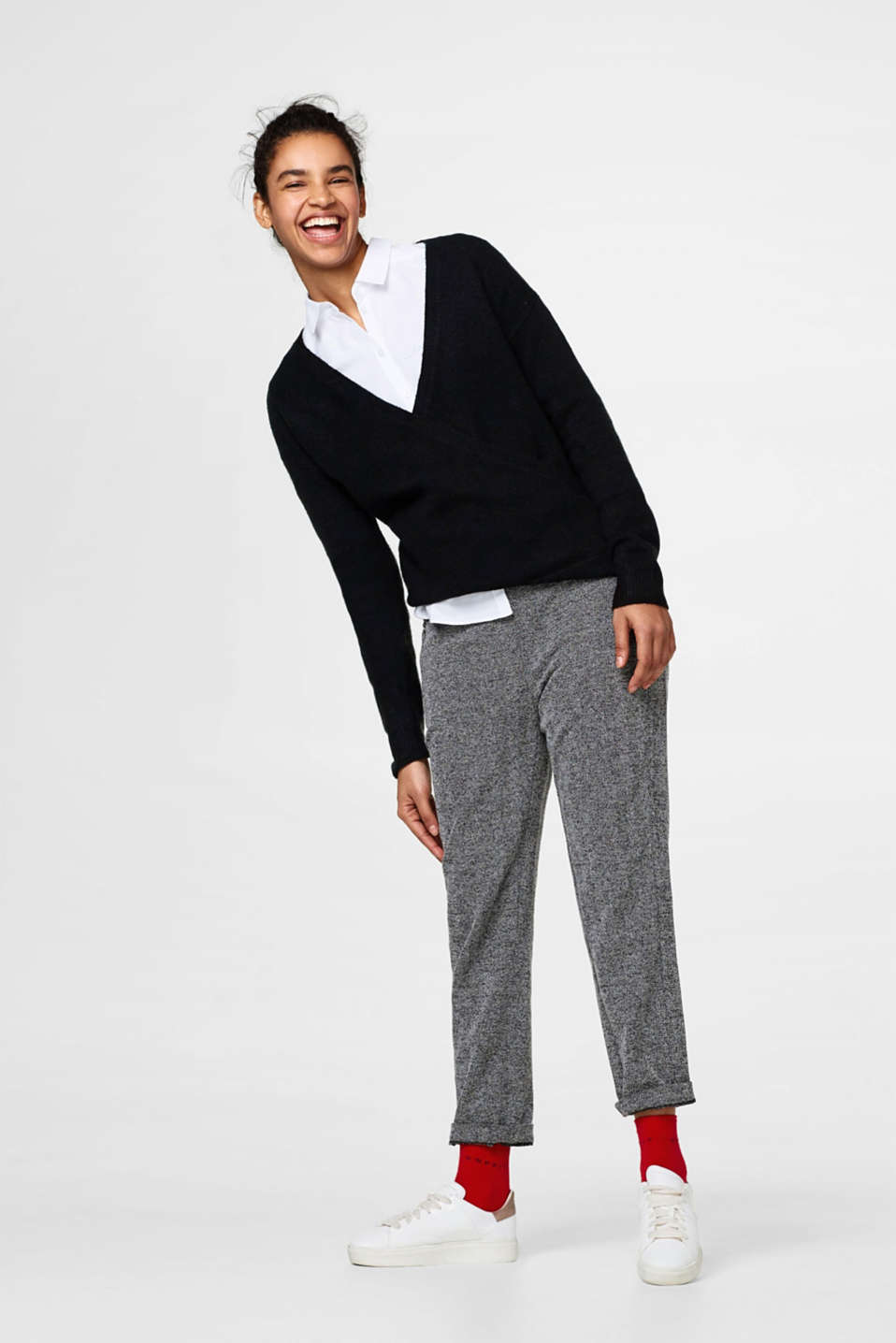 Oversized-Pullover in Wickel-Optik