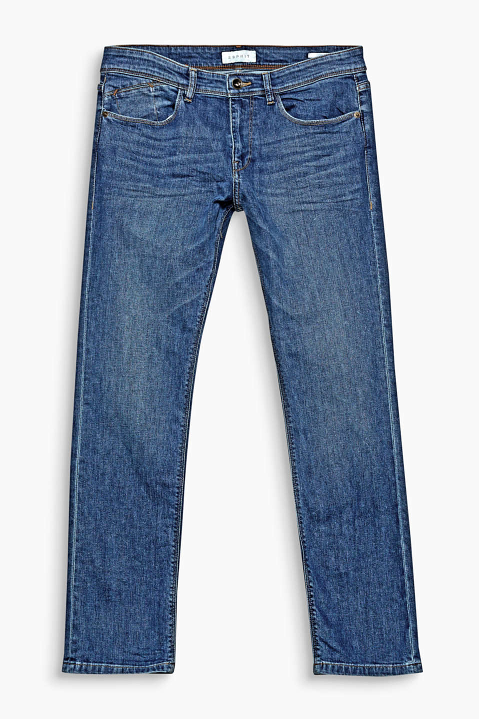 We love authentic denim! Soft garment-washed effects make these five-pocket jeans a top choice for street style looks!