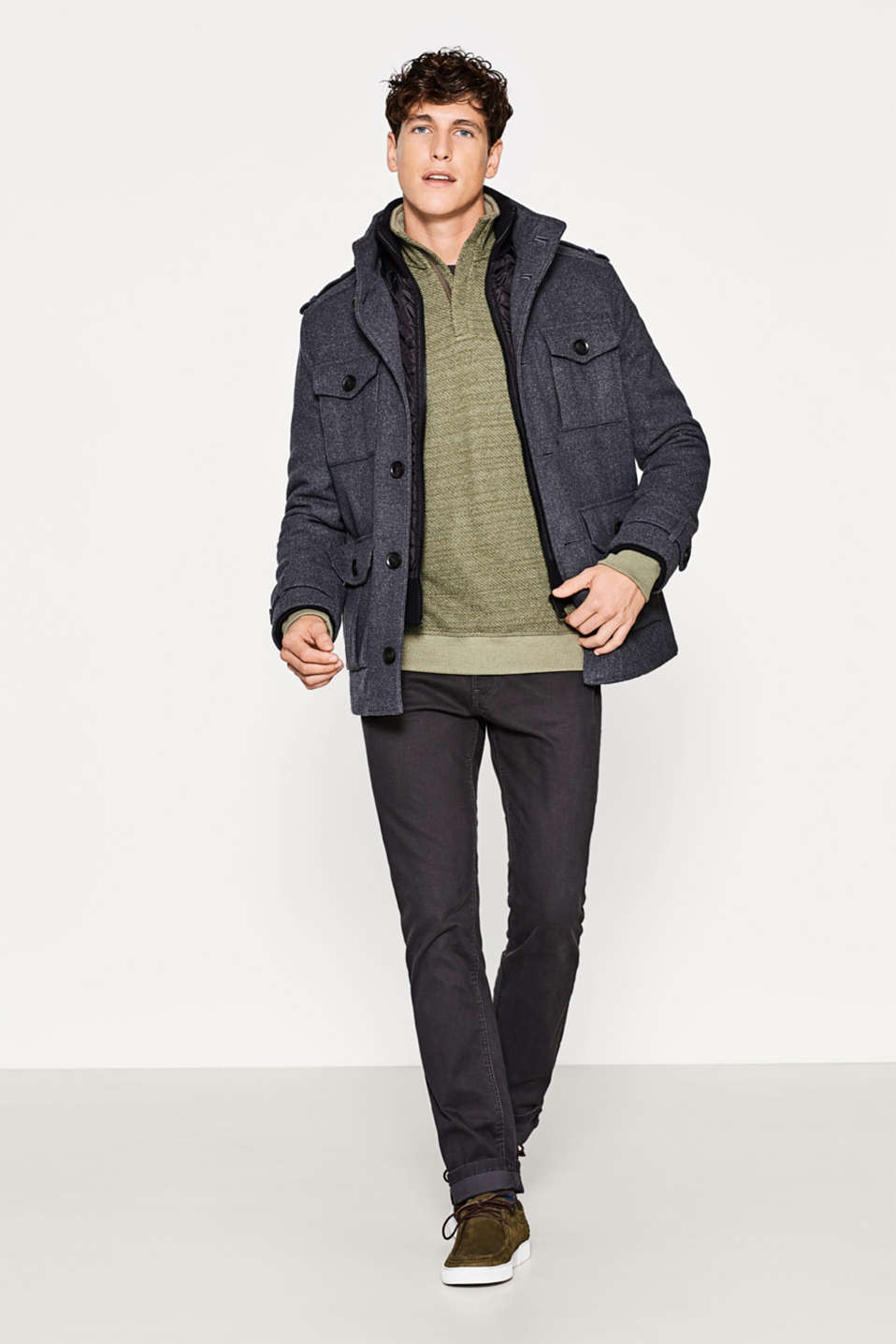 Sporty field jacket in a wool blend