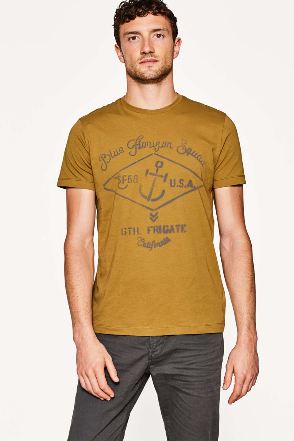 Esprit - Pure cotton jersey printed T-shirt
