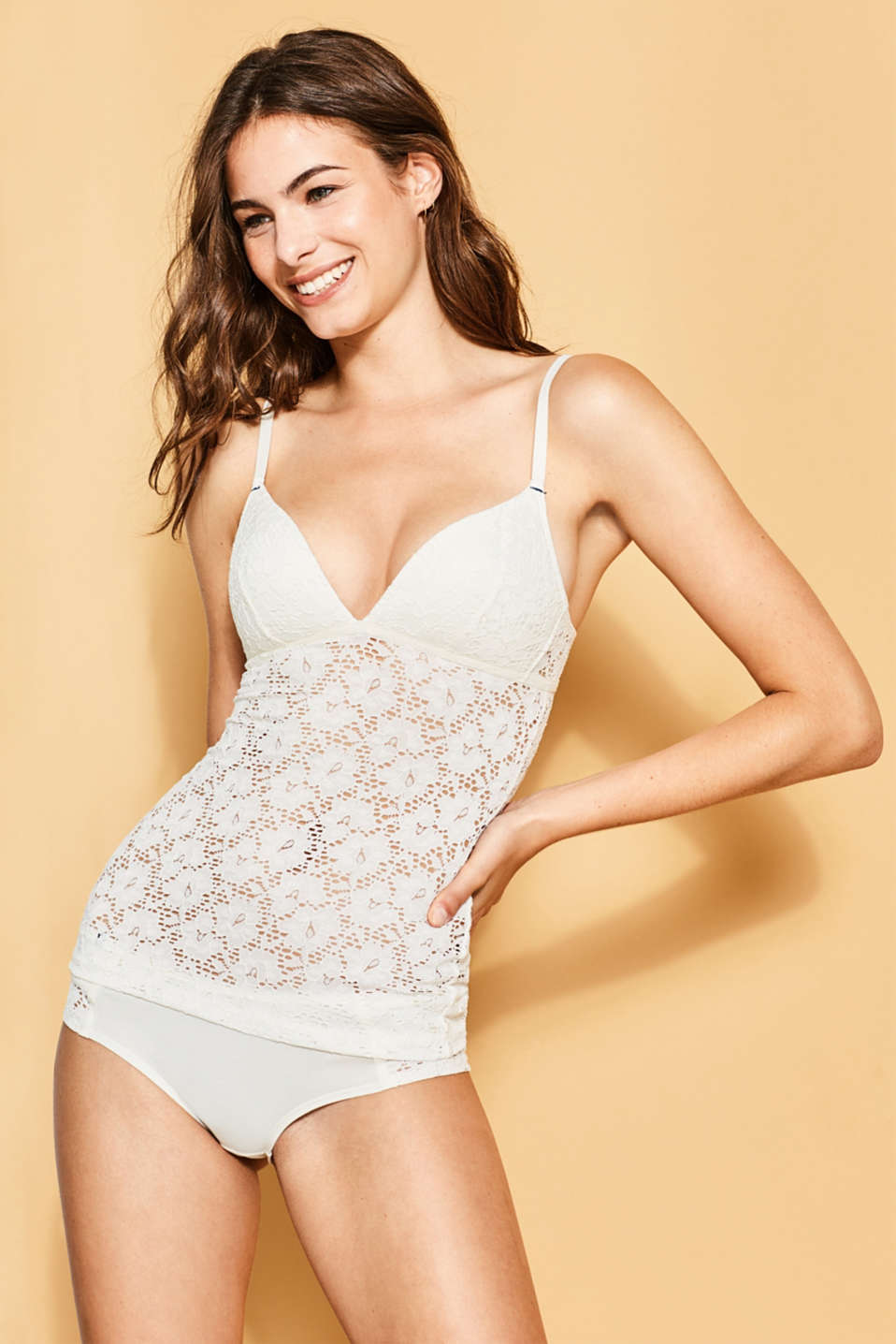 Esprit - Camisole with padded non-wired cups