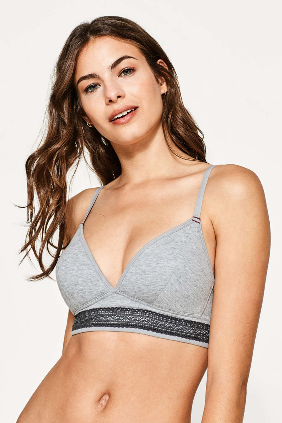 Esprit - Padded non-wired bra made of jersey