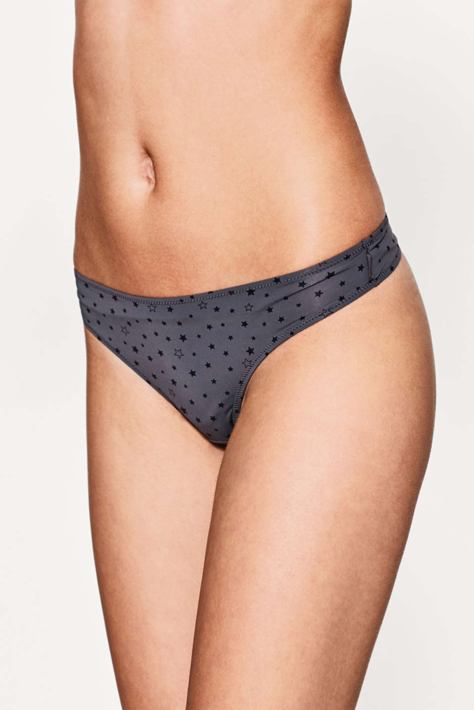 Esprit - Silky thong with a star print