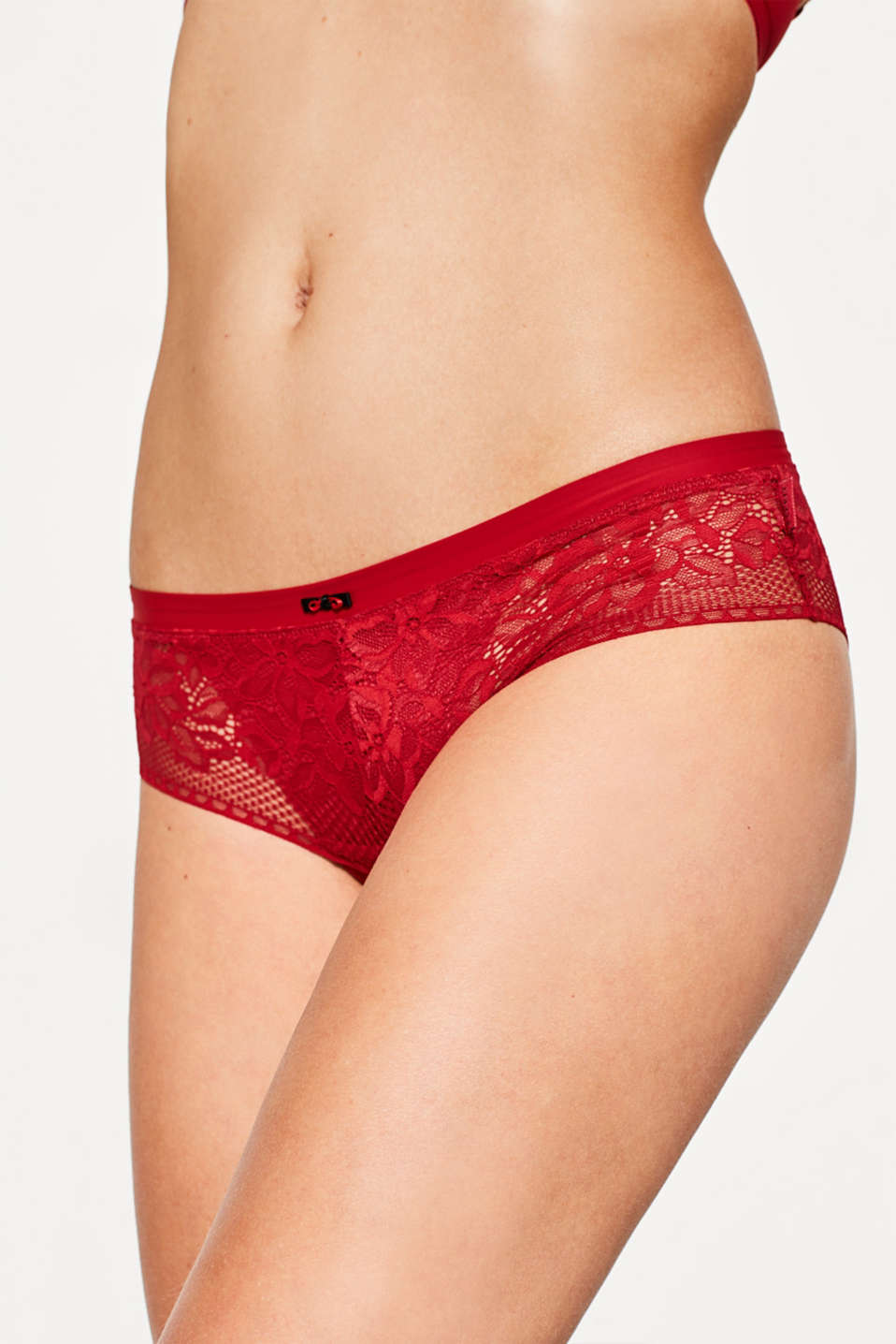 Esprit - Hipster shorts in delicate lace