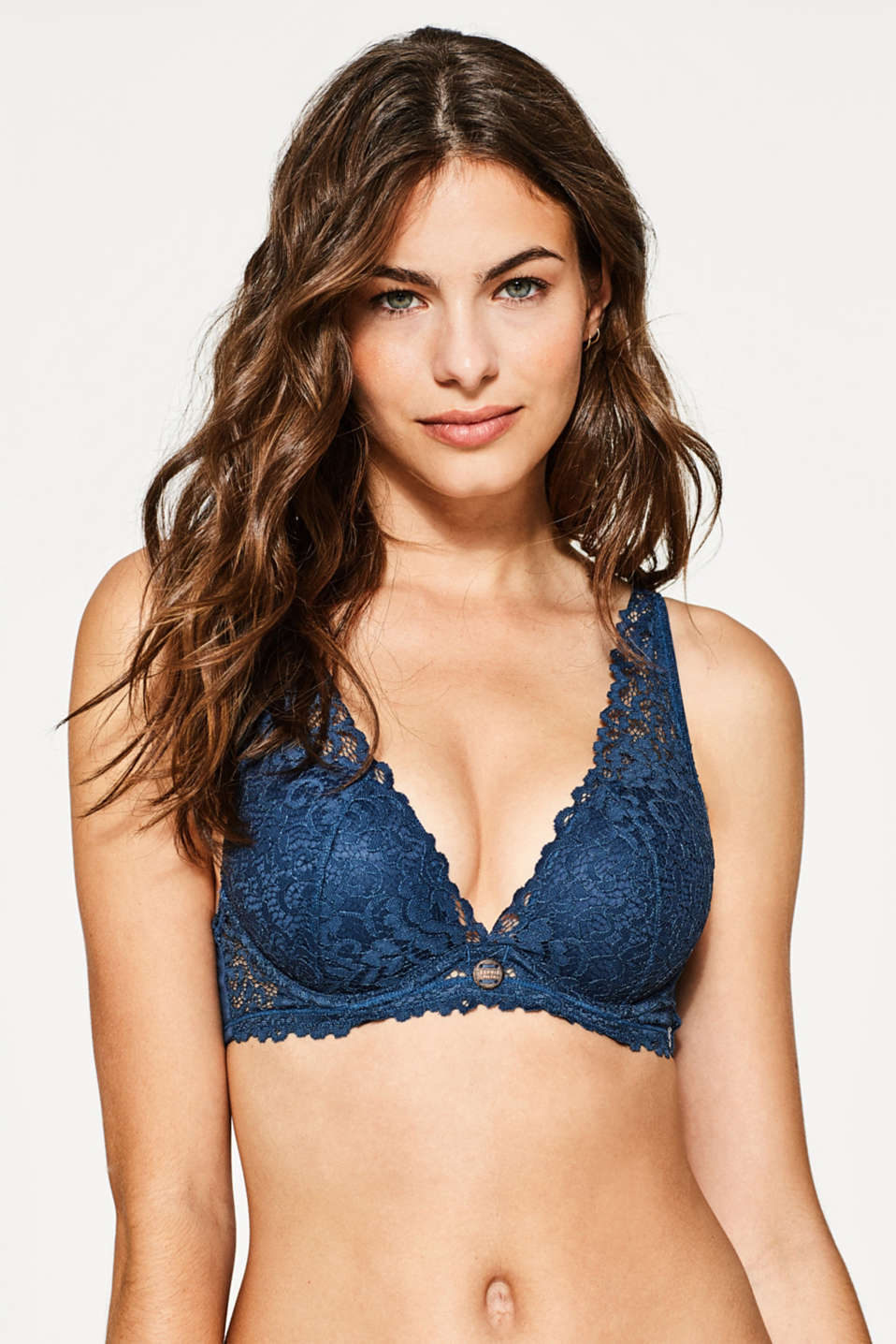 Esprit - Push-up bra in lace with wide straps