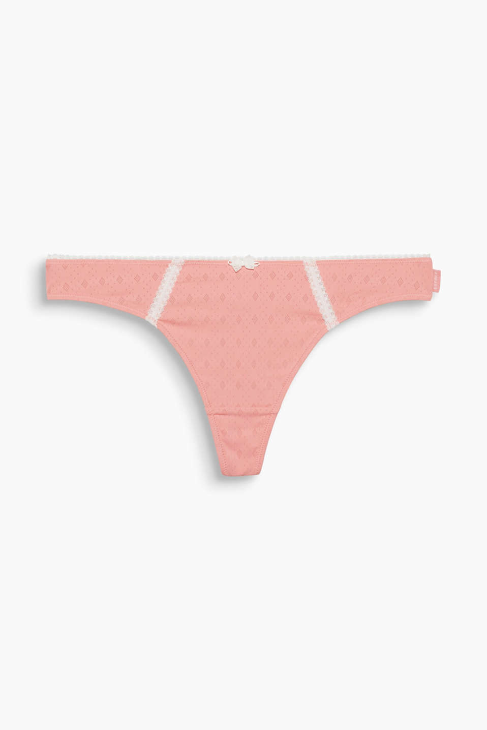 KOKO Collection - soft microfibres, a geometric openwork pattern and shade of pink make this thong a must-have piece!