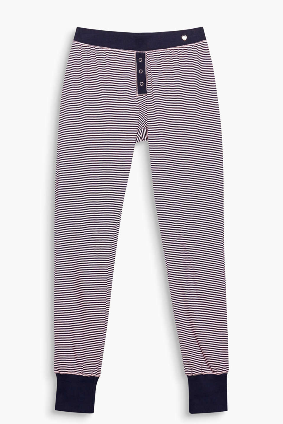 A happy look for a good mood: These soft jersey pyjama bottoms feature an all-over striped look!