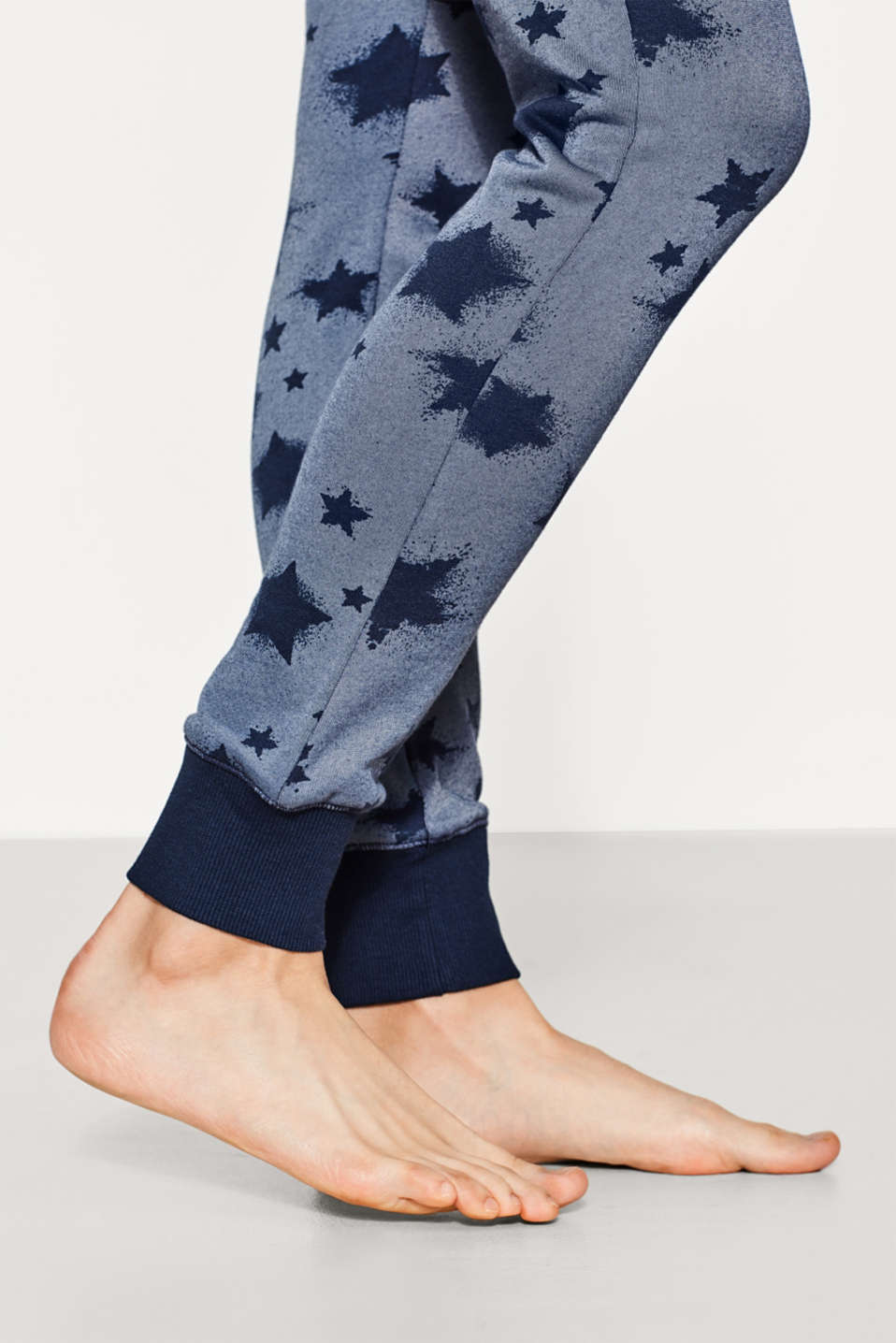 Printed sweat pants + towelling lining
