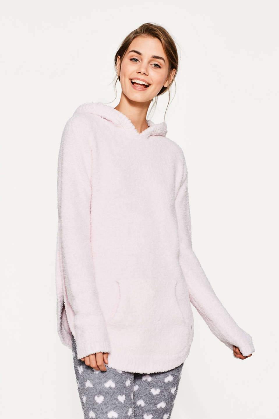 Esprit - Soft and cuddly hooded jumper