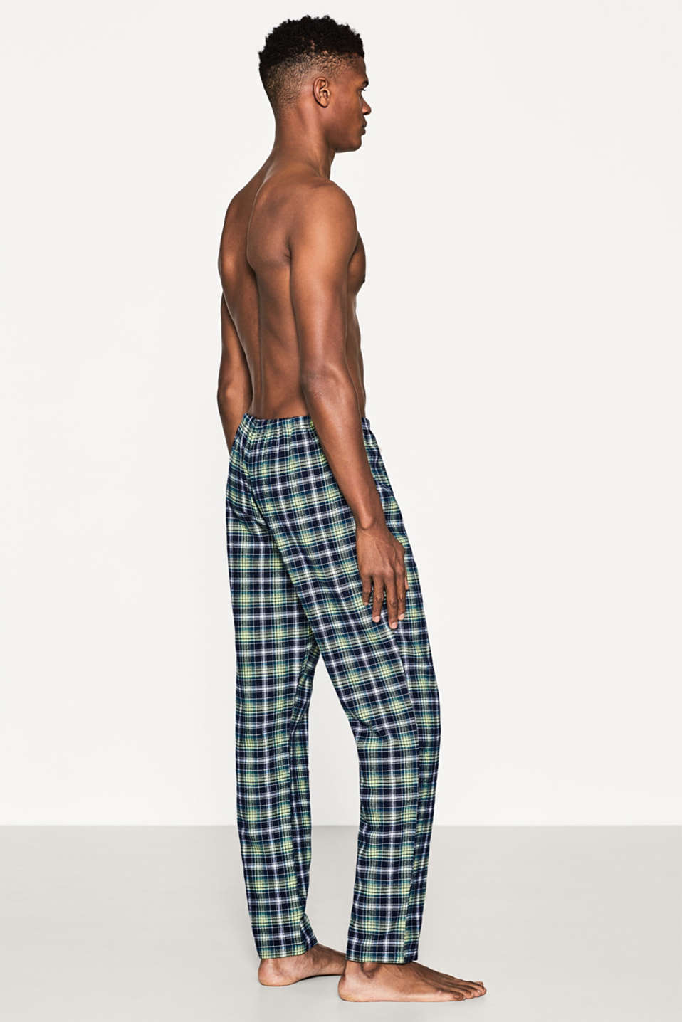 Flannel pyjama bottoms in 100% cotton