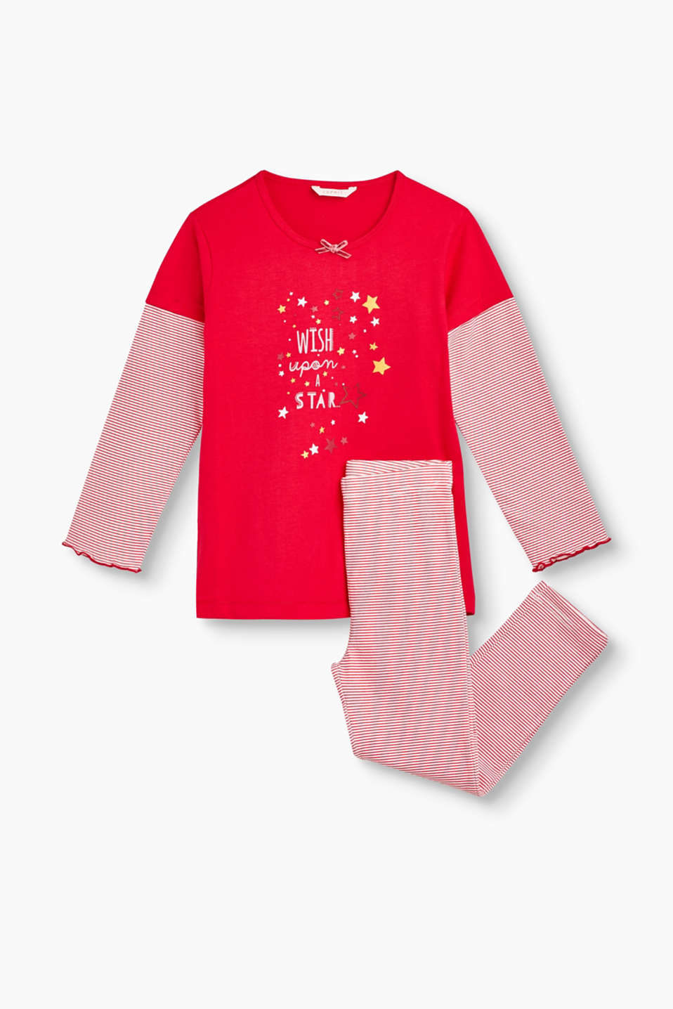 Ce pyjama en jersey de coton stretch garantit un grand confort et un look adorable.