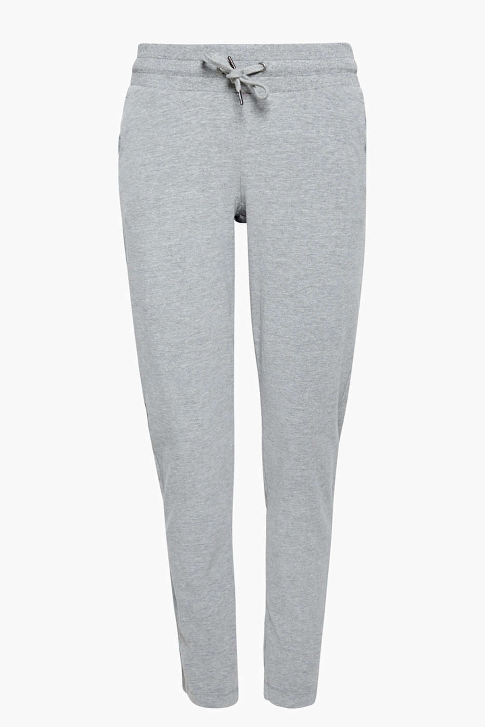 Comfy fave: these melange jersey tracksuit bottoms are fantastic for sport and chilling out.