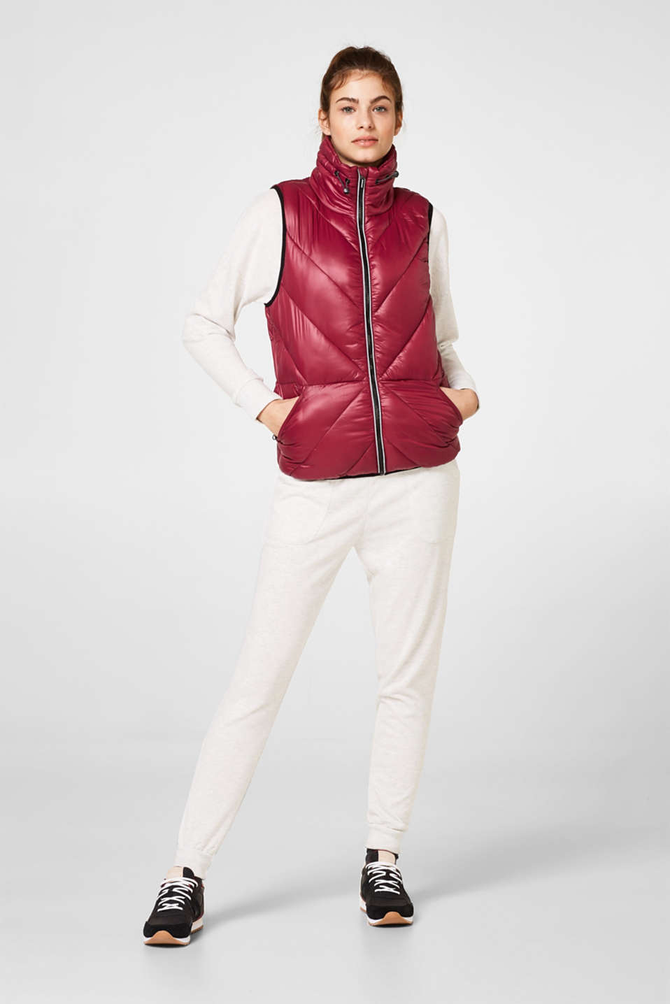 Padded quilted gilet with cotton lining