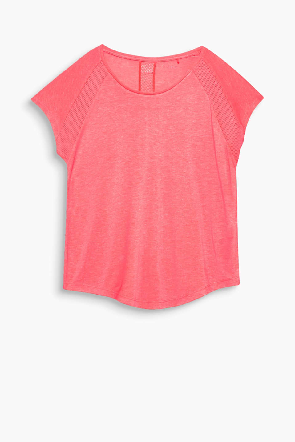 An airy look: this flowing top is perfect for sporty activities thanks to its perforated mesh panels!