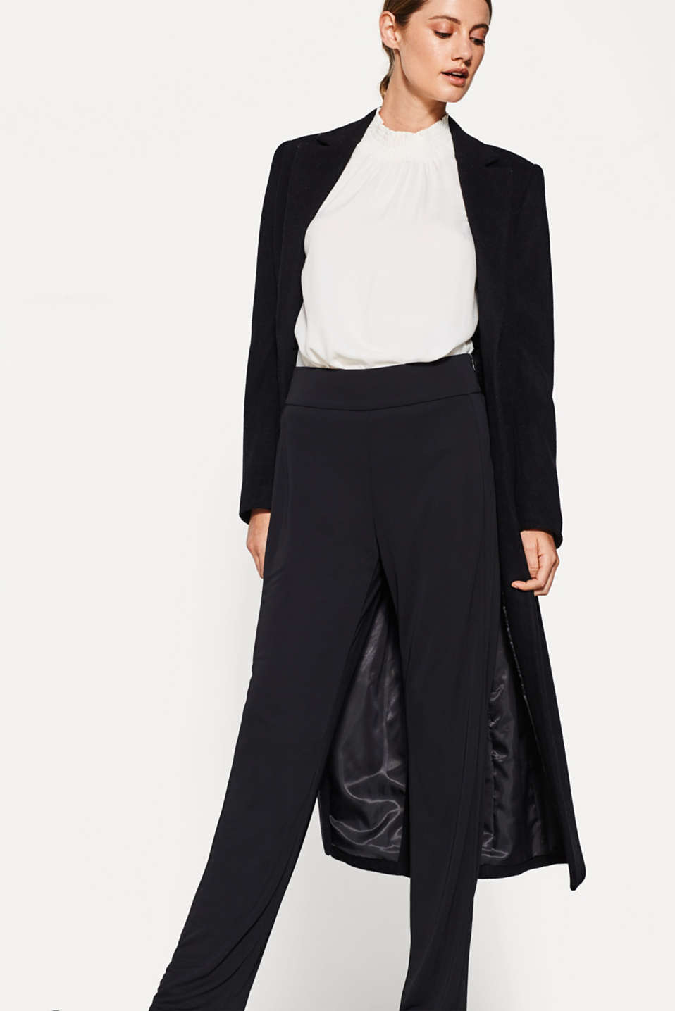 Easy-care trousers in sophisticated jersey