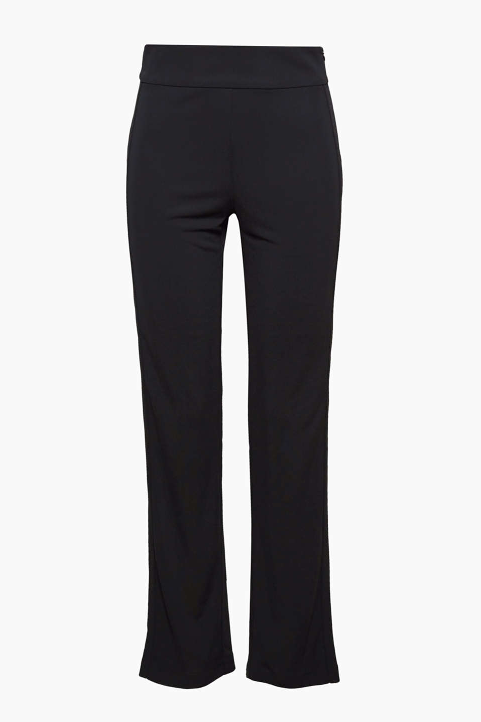 These beautifully draped jersey trousers are crease-resistant, perfect for special occasions and travelling!