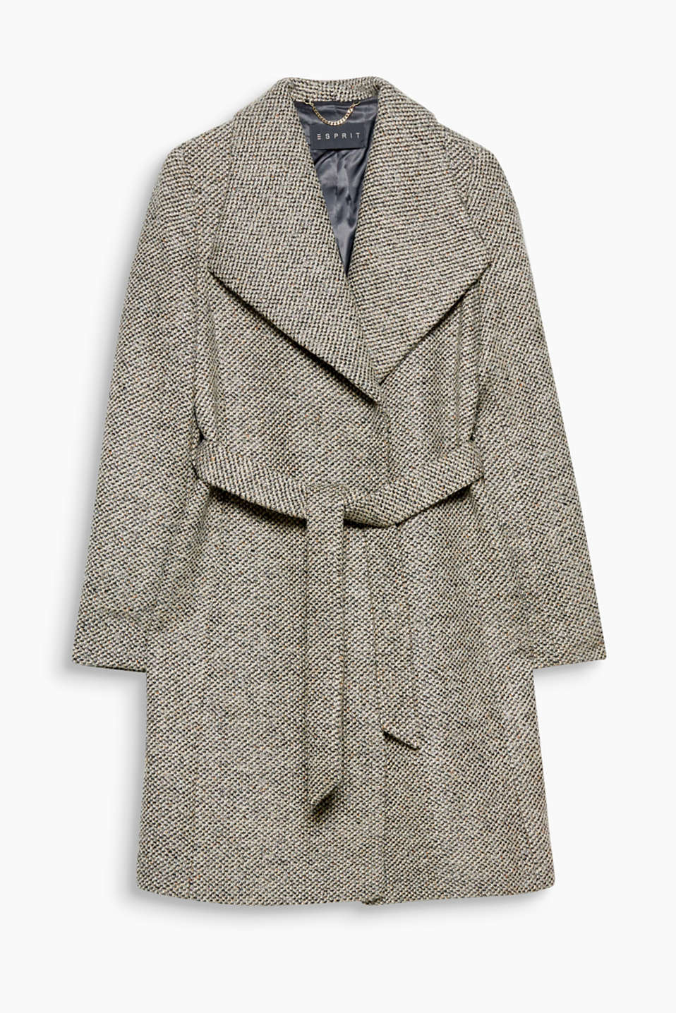 This coat is pure retro charm with its glittering, colourful tweed fabric and spade collar!