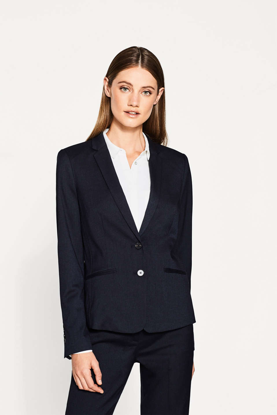 Esprit - Blazer business à la structure bicolore