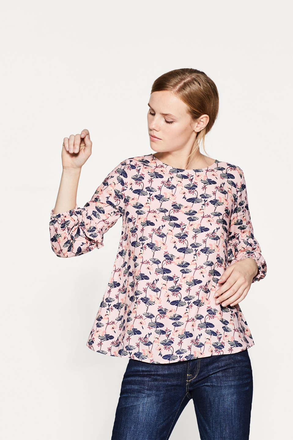 Esprit - Floaty blouse with water lily print
