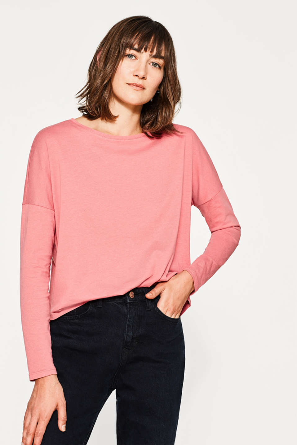 Esprit - Oversized tee with ORGANIC COTTON
