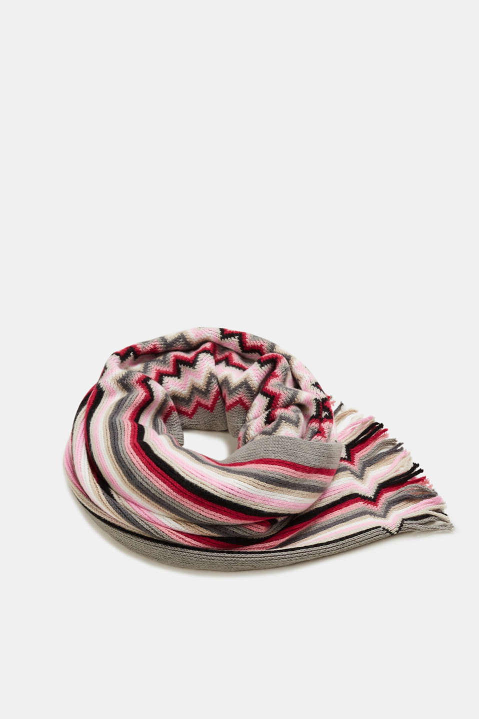 edc - Scarf with a zigzag pattern