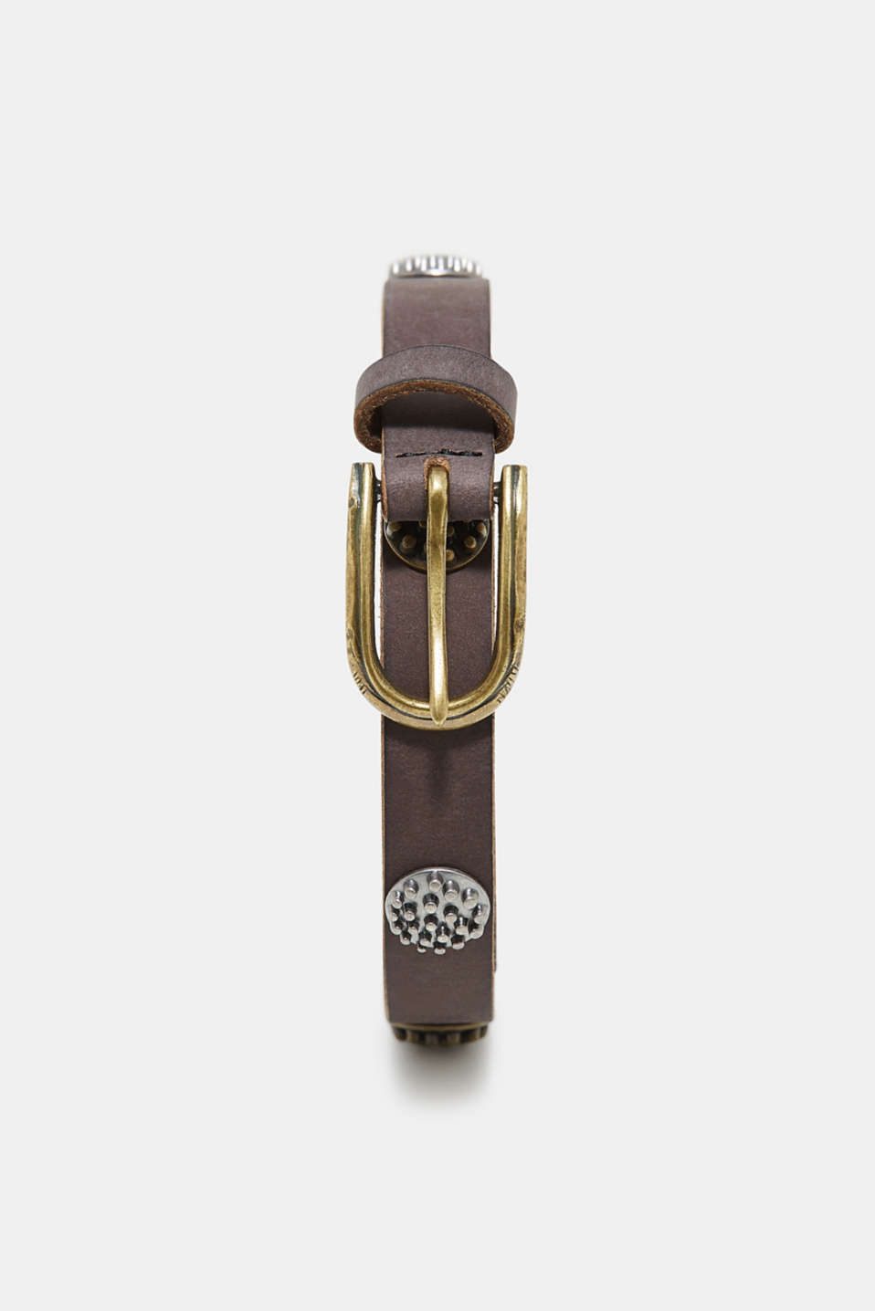 edc - Leather belt with antique studs