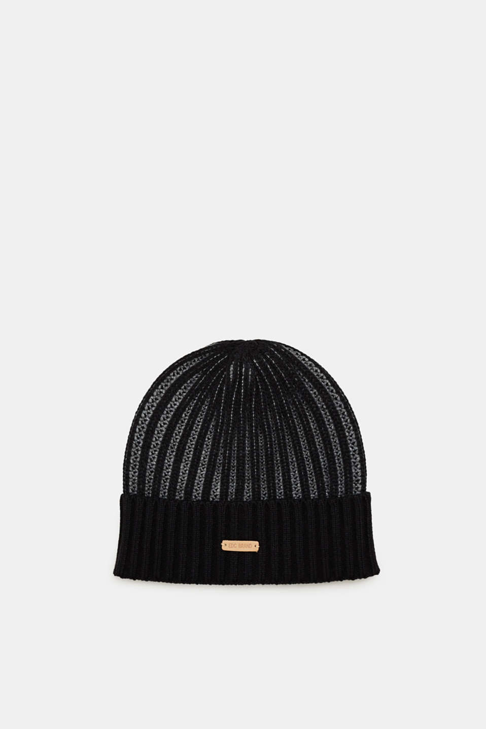 edc - Hat in two-tone ribbed knit