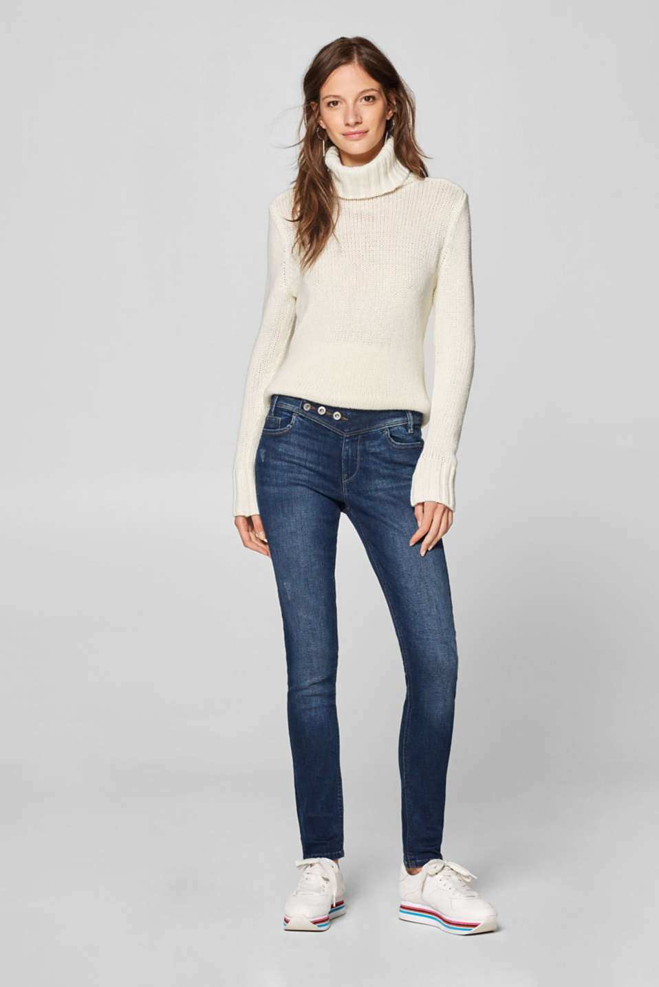 edc - Stretch jeans with a fashionable waistband